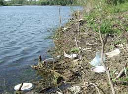мусор на водоеме